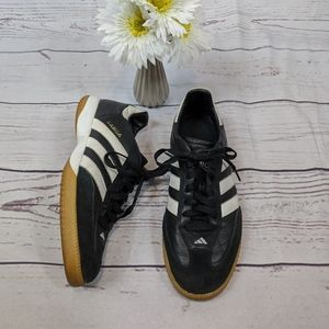 Adidas Black/White Leather Samba Sneakers SZ 8.5